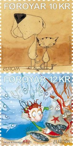 Foroyar Stamps - Europa 2010 Children's books stamp