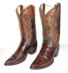 Details about Womens 6 C Cowboy Boots Dan Post Wide Width Brown ...