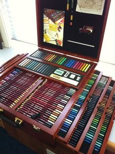 Cumberland Pencils in Drawing Box  how many colors do you think that is??? imagine how much you could do with that many colored pencils!