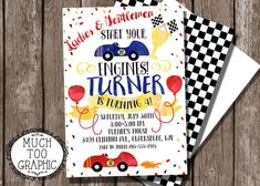 Race Car Racing Racecar Invitation 1st 2nd 3rd by MuchTooGraphic