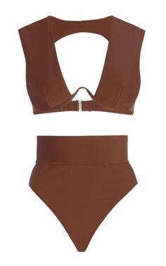Kuwa Cutout High-Rise Bikini By Andrea Iyamah   Moda Operandi Sunkissed Skin, High Rise Bikini, Designer Swimwear, Swimsuits, Bikinis, Resort Wear, Designing Women, Beachwear, Clothes For Women
