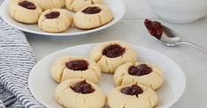Cookie Recipes, Dessert Recipes, Dairy Free Milk, Thumbprint Cookies, Gluten Free Diet, Cookies Ingredients, Almond Flour, Thing 1, Cookie Dough