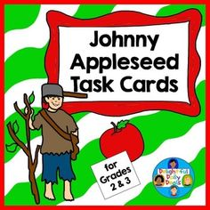 Johnny Appleseed Task Cards for Grades 2-3