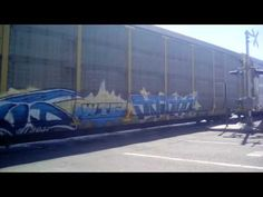 BNSF is carrying a full auto rack train and trade stuff