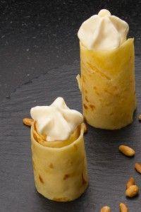 Crêpes au miel et pignons