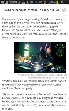 IBM Watson as a DJ