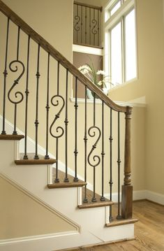 Metal Banisters and Handrails | Round: Iron Stair Railing, Wrought Iron Stair Railing, Stair Railings ...