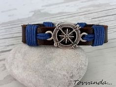 Compass Leather Bracelet Handmade Bracelet by tovvanda on Etsy business and advertising design Bohemian Bracelets, Handmade Bracelets, Handcrafted Jewelry, Boho Jewelry, Bracelet Cuir, Cuff Bracelets, Anniversary Gifts, Women Jewelry, Things To Sell