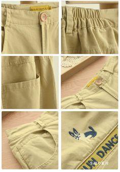 Quần dài màu vàng phong cách Nhật Bản