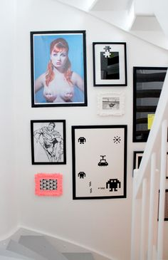 picture wall neon color frame