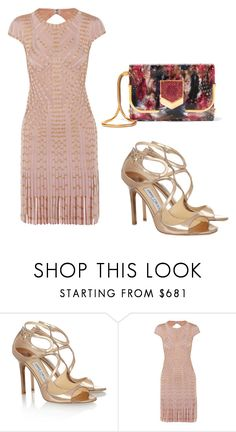 """Untitled #3061"" by loveparis7 ❤ liked on Polyvore featuring Jimmy Choo and Hervé Léger"
