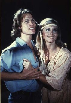"Olivia Newton-John and Michael Beck in ""Xanadu"" (1980). COUNTRY: United States. DIRECTOR: Robert Greenwald."