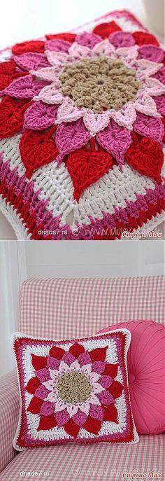 Подушка-цветок: Дневник группы 'Вязание' - Страна Мам