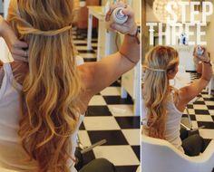 Nette und schnelle Frisur für den Alltag