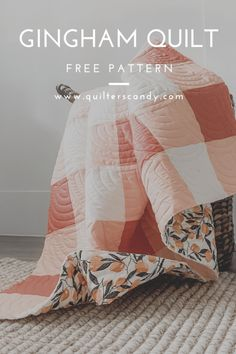 Quilting For Beginners, Quilting Tips, Quilting Tutorials, Quilting Projects, Quilting Room, Sewing Tutorials, Quilt Baby, Gingham Quilt, Modern Quilt Patterns