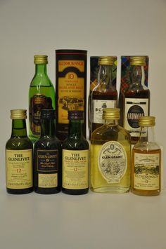 Single Malt Scotch Whisky Miniatures- Awesome hostess gift idea!