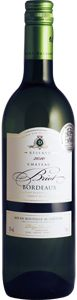 Chateau Briot Bordeaux Blanc (2011)....A wonderful white bordeauz that comes in around $11.99.