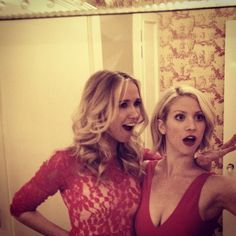 Pin for Later: 42 Times the Pitch Perfect Cast Brought Their Aca-Awesomeness to Instagram  Anna Camp and Brittany Snow were red-hot when they attended an event together back in 2012.