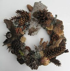 All Season Cone and Dried Seed Pod Wreath by BeacheryDesigns Diy Arts And Crafts, Holiday Crafts, Home Crafts, Christmas Love, Winter Christmas, Pine Cone Decorations, Christmas Decorations, Straw Wreath, Pine Cone Crafts