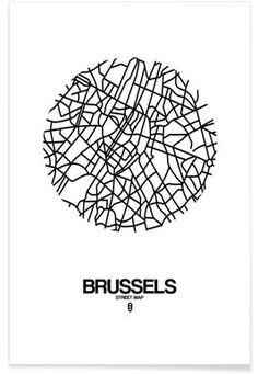 Brussels - Naxart - Affiche premium