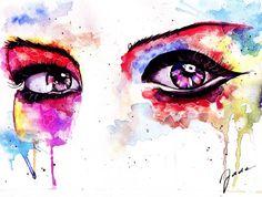 Resultado de imagem para watercolor eyes
