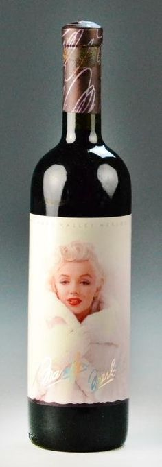 Marilyn Monroe Merlot Bottle of Wine----What i wouldnt give for one of these.... i love Marilyn
