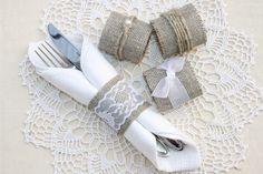 Burlap Wedding Napkin Rings, Rustic Wedding Decor, Rustic Wedding Napkin, Wedding Table Decor, Rustic Wedding, Rustic napkin holder by HameleonShop on Etsy https://www.etsy.com/listing/225985874/burlap-wedding-napkin-rings-rustic