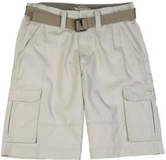 Wrangler Men's Genuine Clearwater Cargo,Stone,36