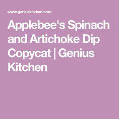 Applebee's Spinach and Artichoke Dip Copycat | Genius Kitchen