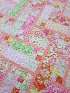 Sew Blessed blog - another shot of the baby girl quilt.
