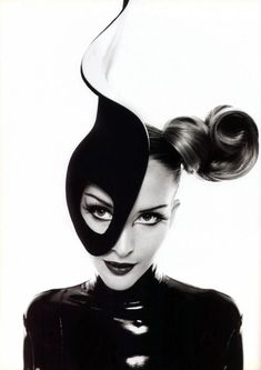 Thierry Mugler circa.1990 via Khamillion    I love the look of the hair