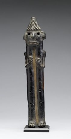 Human Effigy Flute  Mexican (Jalisco style)  burnished earthenware