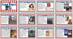 KS2 History Teaching Resource - Life of Anne Frank printable classroom display posters for primary and elementary schools