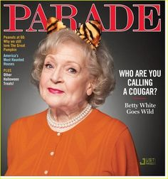 Betty White is on the cover of Parade magazine, and inside, she discusses her views on gay marriage. Save My Marriage, Marriage Advice, Easy Halloween Costumes, Halloween Treats, Happy Halloween, Great America, Minding Your Own Business, Betty White, When I Grow Up