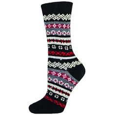 bella Kathleen Womens Winter Sweater Style Crew Sock  Caviar  Medium  ** You can get more details by clicking on the image.