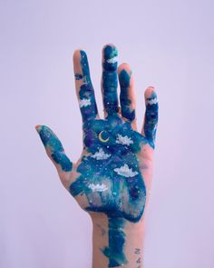 Natacha Birds - Contact - Art Corner - Welcome My Home Art Hoe Aesthetic, Aesthetic Painting, Aesthetic Body, Coin D'art, Hand Kunst, Natacha Birds, Skin Paint, Tattoo Prices, Galaxy Painting