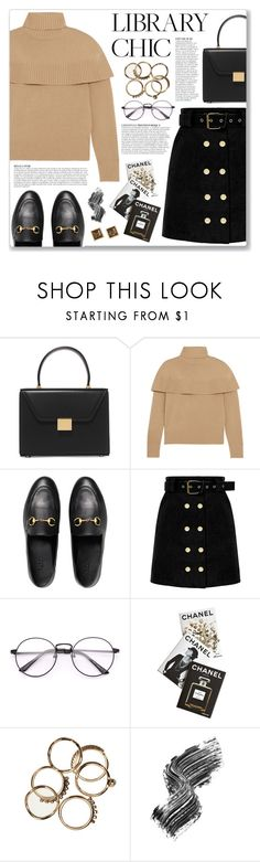 """Work Hard, Play Hard: Finals Season"" by myduza-and-koteczka on Polyvore featuring Victoria Beckham, Chloé, Gucci, Anja, Assouline Publishing and Illamasqua"