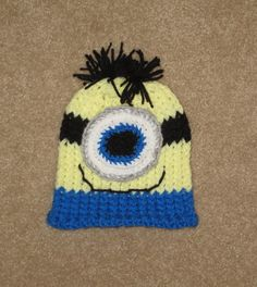 Minion Hat Newborn to 5T Halloween New Baby Baby by simplyyarn27