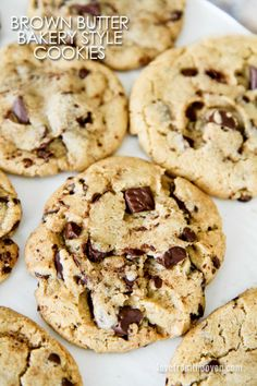 Bakery Style Brown Butter Chocolate Chip Cookies. These might be the best chocolate chip cookies I've ever had!