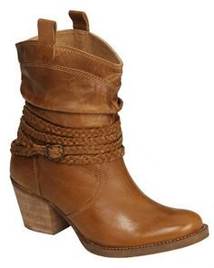 Dingo Twisted Sister Braided Strap Boots - Round Toe