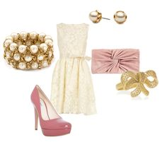 Pink and cream and I'd rock gold for this.