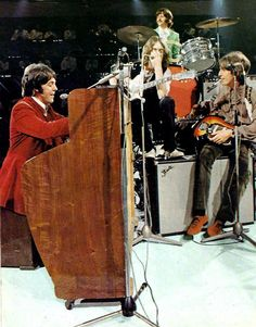 On sunday, October 6 1968 I knew The Beatles were on The Smothers Brothers, I went home and witnessed the historical performance of Hey Jude. I later learned the mics were live, and ALL instruments instruments were on tape,but it was electrifying! It was actually a recorded performance on the British DICK CAVETT SHOW, edited for overseas telecast.  WHAT A MOMENT IN ROCK HIST....