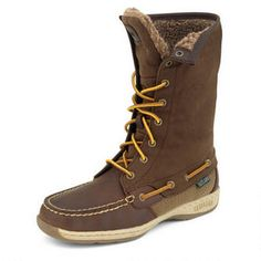 Women's Hi Tide Boat Shoe Boot . I would wear these beauties to work, to friends homes and when going out or entertaining during the holiday season. #eastlandshoe