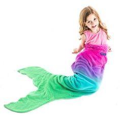 Blankie Tails Kids Pink Ombre Mermaid Blanket