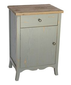 Look at this Gray Wooden End Table on #zulily today!