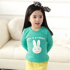 Yeni Tasarım Bebekler Sevimli uzun kollu Karikatür T gömlek, çocuklar çocuk kız Tişört Autume'e Bahar Tops & Tees