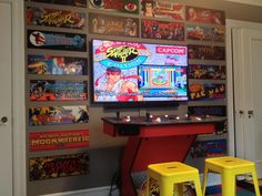 Depending on the size of your man cave, you can add as many or as few items as you like to make it personalized to your preferences and tastes. Arcade Games, Pi Arcade, Bartop Arcade, Arcade Room, Retro Arcade, Retro Gamer, Nerd Room, Gamer Room, Diy Arcade Cabinet