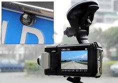 Dual Camera HD Car DVR - HD Resolution, Backup Camera, Auto Record, Loop Record, GPS, G-Sensor