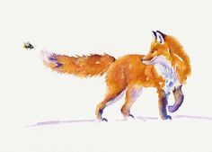 A sting in the tail painting by debra hall foxy рисунок лисы Red Fox Tattoos, Fuchs Illustration, Fuchs Tattoo, Fox Painting, Fantastic Mr Fox, Cute Animal Drawings, Cute Fox Drawing, Art Drawings, Fox Art