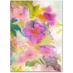 Trademark Fine Art Cascade Canvas Art by Sheila Golden, Size: 35 x 47, Multicolor